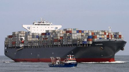 The MV Tempanos on which a crew member died after falling into a cargo hold while the vessel was ber