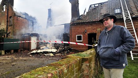 Fire at Manor Estate, Bawdsey. Jonathan Simper.