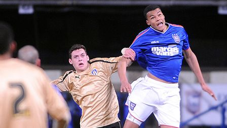 Tyrone Mings, right, is seen as one for the future at Ipswich Town