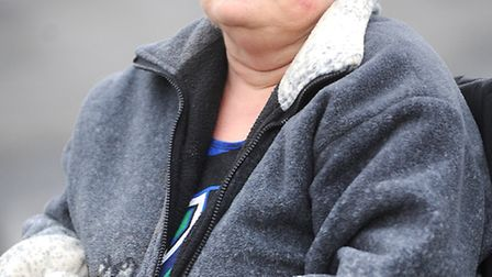 Wheelchair-bound Debbie Farrow who has been told she no longer qualifies for hospital ambulance tran