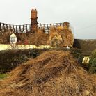 A thatched house at All Saints South Elmham was damaged by fire on Friday