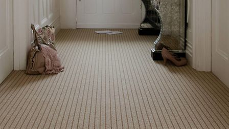An Axminster Simply Natural Stripe in Vogue carpet