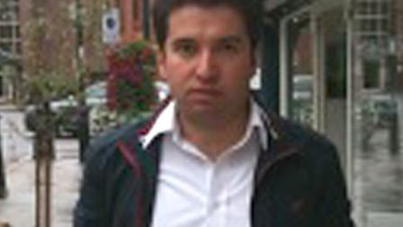 Taxi driver Metin Akin. He refused to take a blind couple because of their guide dogs and was taken