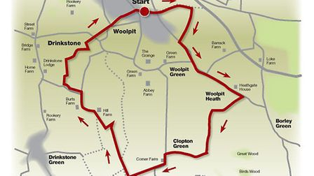 Route of the Woolpit walk
