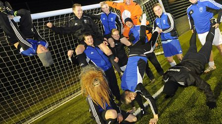"""The Waterside FC team show their fun side after filming a video of the group doing the """"Harlem Shake"""
