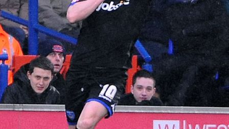 David Nugent reacts to the Portman Road boo boys when scoring for Portsmouth in 2011. The Leicester