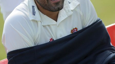 Ravi Bopara, pictured trying to keep warm at the Essex Media Day at Chelmsford last week, will be ke