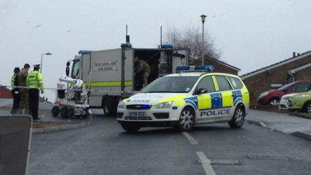 The Bomb Disposal Team on Annbrook Road, Ipswich
