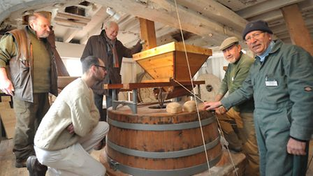 The Woodbridge Tide Mill has been milling it's own flour, which will eventually be used to bake brea