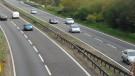 The A12 at Stratford St Mary