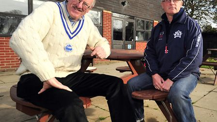 Kester Clarke, left, and Martin Taylor, right, two of the organisers of the European Club Cricket To