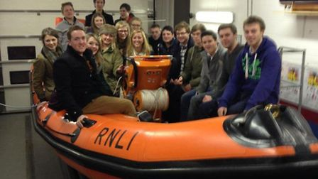 Wix Young Farmers during a visit to the RNLI