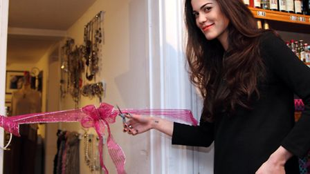 Sophia Sassoon ,star of Made in Chelsea, officially opening the new Gift Room at The Wine Centre in