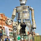 Ted Hughes' classic children's story The Iron Man is brought to life. Picture: Paul Goodwin