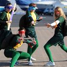 Kerry Fuller, Laura Michie, Sarah Michie and Ella O'Riordan had shell power dressed as the Teenage M