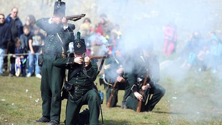 The 95th Rifles at Ickworth performing parades, drills and skirmishes.