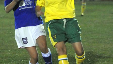 Ipswich Town Ladies Amy Cook, left, in action against Norwich City's Vicki Stephens