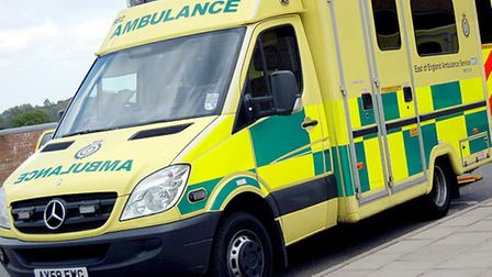 An ambulance attended the scene of the incident at Anglia Indoor Karting