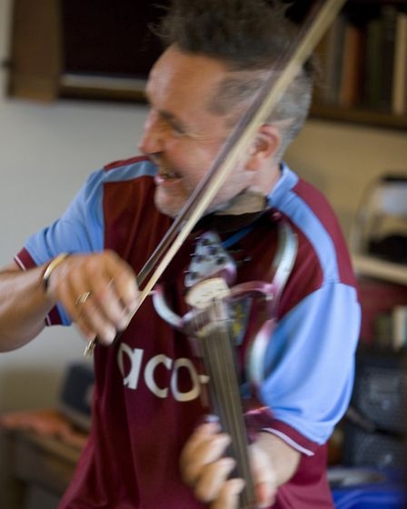 Nigel Kennedy has fond memories of watching his beloved Villa play Ipswich. Picture: Paul Marc Mitch