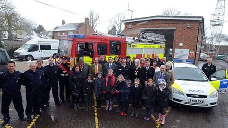 The new combined Debenham fire and police station officially opened just weeks ago.
