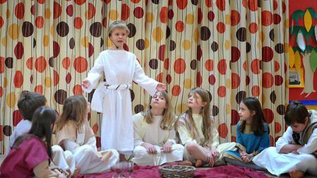 Wilby Primary School's dress rehearsal for it's Easter play, 'Roll Back the Stone'.