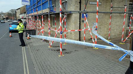 Police cordoned off part of Risbygate Street after Mary Roberts' body was discovered