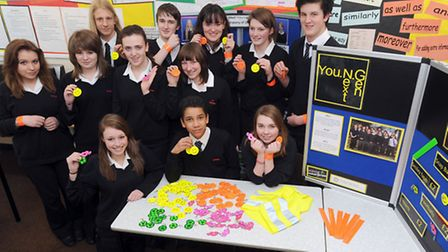 Pupils at Debenham High School have set up their own road safety awareness business selling reflecti