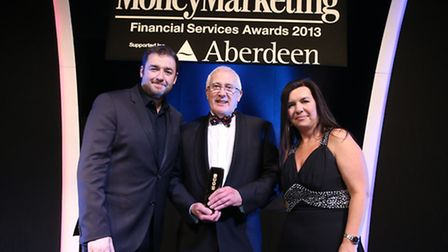 John Millican, managing director of Fiducia Wealth Management, with the Money Marketing Award for Be