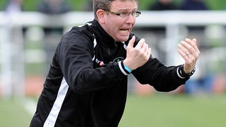 Danny Laws, who has left his post as manager of Needham Market to become boss at Leiston