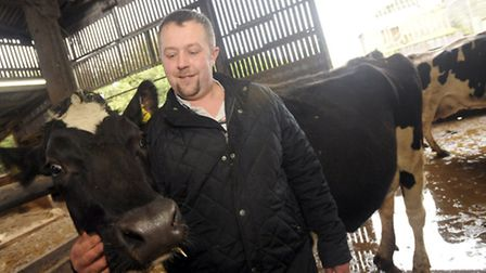 Nic Bertelsen, with his favourite cow Belle, left his job as a marine engineer to be retrained at Ea