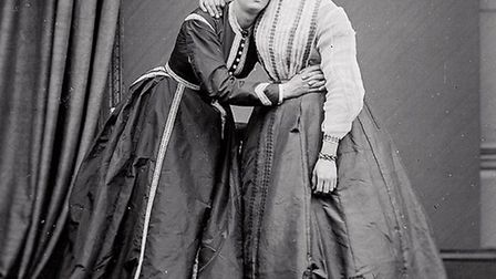 Frederick Park and Ernest Boulton as their alter egos Fanny and Stella