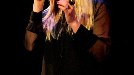 Kerry Ellis performed at a sold out show at the New Wolsey Theatre in Ipswich last night. Picture: F