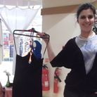 Jana Batista with a designer dress in Bohemian Chic, the ladies fashion shop in Tower Ramparts she r