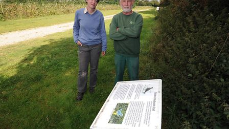George Millins has helped set up a biodiversity trail with information boards at Wheldon's fruit far