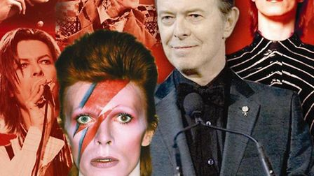 The many faces of David Bowie. Graphic: Annette Hudson.