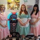 Kirsty McClure, Kira Elmy and Lizzie Arvanitidou at the Ra Ra's American-style ice cream parlour