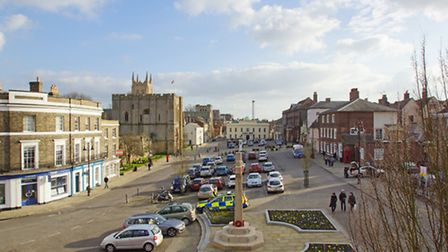 A view of Angel Hill