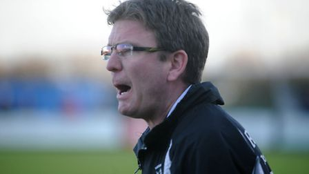 Danny Laws, who has left Needham Market to take over as manager of Leiston