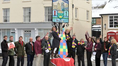 Businesses in Framlingham are getting together and wearing comedy ties for Comic Relief