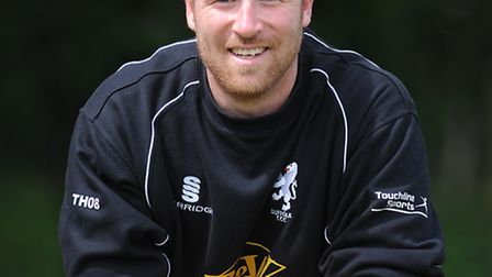 Tom Huggins, who top-scored with 50 for Suffolk against Essex 2nd XI
