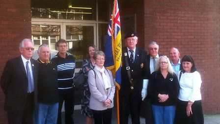 Members of the Bramford Royal British Legion outside South East Suffolk Magistrates Court last year
