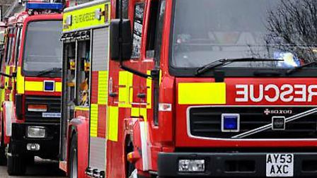 Firefighters attended a crash in Badley
