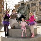Jessie Caldwell, Hazel Pratt, Beth Thom and Sharon Wragg are encouraging more people to dress as fai
