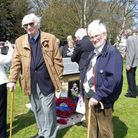 David Seaborn and Bill Foster. David saw the Lancaster pass close to his house on fire. He was 15 ye
