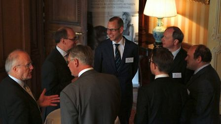 The reception hosted by Birketts at the British Embassy in the Hague