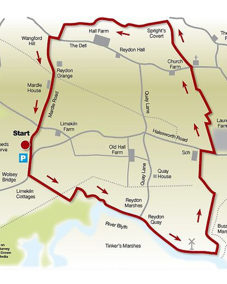 Route of the Reydon walk