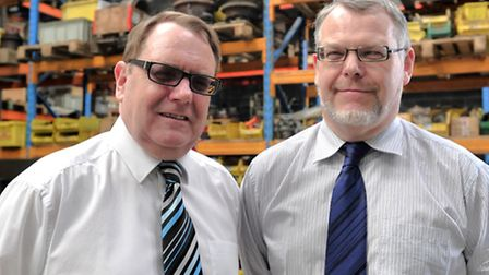 Brothers Robert and Richard Finch of Plant Parts Ltd, Hadleigh