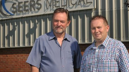 Keith Chittock and Simon Rees of Seers Medical in Debenham