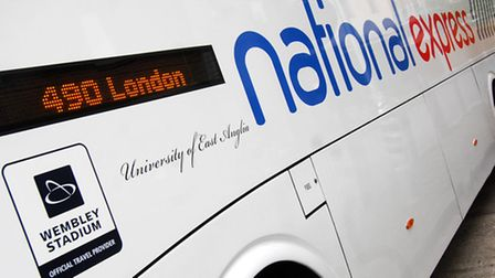 Unveiling of new National Express coach named after the University of East Anglia (UEA).PHOTO: ANTO