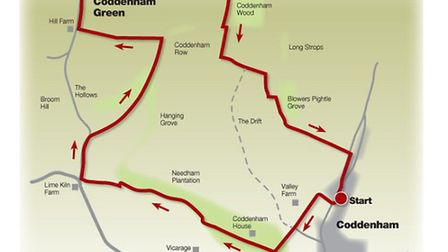 Route of the country life and valleys walk